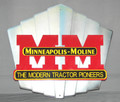Minneapolis Moline Sign Grill Badge