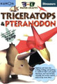 Dinosaurs: Triceratops & Pteranodon (Kumon 3-D Paper Craft Workbooks) (Paperback)