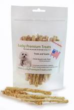 Peanut Butter Flavored Rawhide Chews for Small Dogs