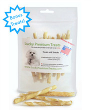 100 Chicken Wrapped Rawhide for Small Dogs + 10 FREE!