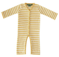 cashmere  layette cream + yellow  striped lounger