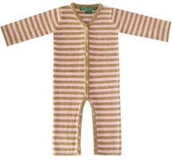 cashmere layette pink + camel striped lounger