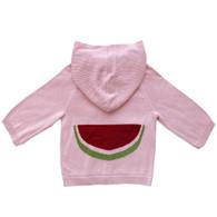 organic cotton/bamboo watermelon hoodie