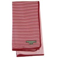 organic cotton/bamboo pink + red reversible blanket