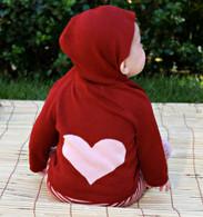organic cotton/bamboo heart hoodie