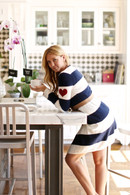 NAUTICAL STRIPE SKINNY WRAP CARDIGAN