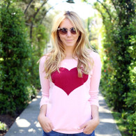 HEART PULLOVER / PINK
