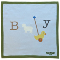 cashmere layette baby duck blanket - SOLD OUT