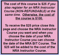 2013-01-01 - NRA BIT - Basic Instructor Training Course Gift Certificate