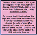 2017-00-00 - NRA (BIT) Basic Instructor Training Course - Select Date or Gift Certificate