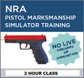 2017-00-01S - NRA Pistol Marksman Simulator Training - Select Date or Gift Certificate