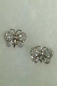 Baby Butterfly Diamond Studs