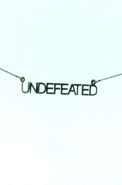 UNDEFEATED, Bold, but true, statement...on 18 inch chain. Sterling Silver
