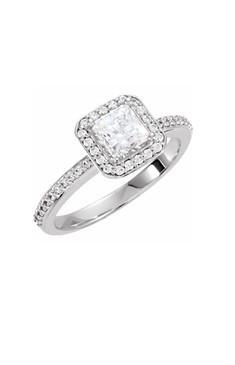Princess Diamond Halo Ring