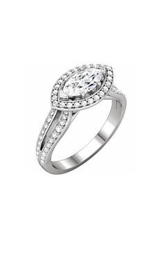 Floating Marquise Diamond Halo Ring