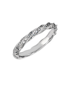 Diamond Swirls Wedding Band nestles up to the Diamond Swirls Engagement Ring, or lovely as a beauty on its own. 14K
