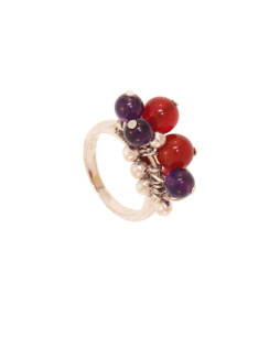 Double Bubble Sterling Silver Ring.