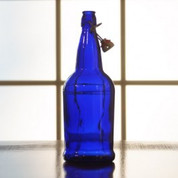 Flip Top Bottles Cobalt Blue, 1 Liter - Case of 12