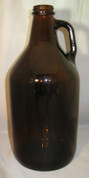 Glass Jug - 1/2 Gallon Amber - Case of 6