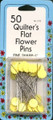 Quilter's Flat Flower Pins - 50 pack