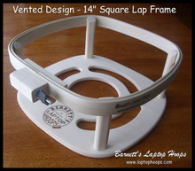 "Vented Design - 14"" Square Laptop Hoop Frame"