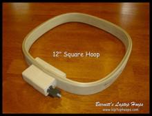 """12 """" square hoop."""