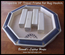 Collapses flat for easy storage.  Great travel size frame.