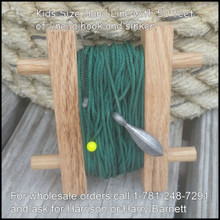 "Size:   4.5"" x 4.5""  Comes with a flounder hook and weight. Ready to go fishing!"