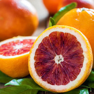 An array of blood orange, grapefruit and bergamot fruits that exudes a true deep orange aroma!
