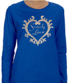 Zeta Sisterly Love T-Shirt: Long Sleeve (4X - 5X)
