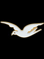 Mascot Lapel Pin - White & Gold Dove