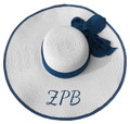 Zeta Large Brim Floppy Hats - White