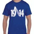 1914 AXE T-SHIRT (2X - 4X) - ROYAL