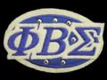 """Sigma Felt Oval w/ Studs Emblem - 3  3/8""""W"""