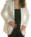 Womens Blazer - White (4X)