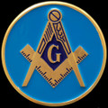 Masonic Logo Car Emblem - Blue