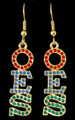 OES Crystal Earrings - Gold