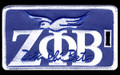 Zeta Luggage Tag - Greek Letters w/ Dove