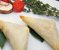 Fresh Lobster meat wrapped in a traditional phyllo flag pastry with sherry laced Newburg Sauce.   Units/case: 100