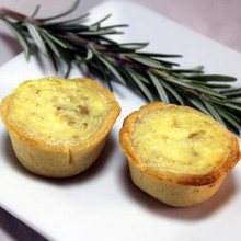 Savory Quiche shell filled with eggs, cream, swiss cheese and crisp bacon.   Units/case: 100