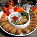 Fresh pulled white meat chicken topped with spicy buffalo sauce, loaded into a spring roll wrapper.  Units/case 100