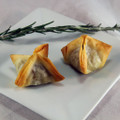 This traditional Sicilian dish is composed of a medley of delicately fried eggplant, tofu, and whole roasted pine nuts, which is dressed in a sweet and tangy reduction and folded into an elegant phyllo star.   Units/case: 100