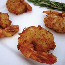 Succulent shrimp coated with shredded coconut breading and a Malibu Rum batter/  Units/case: 100