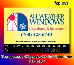 thermometer refrigerator magnet full color imprint