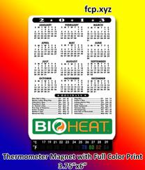thermometer refrigerator magnet full color imprint calendar