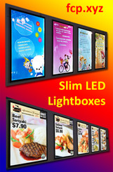 slim led lightboxes