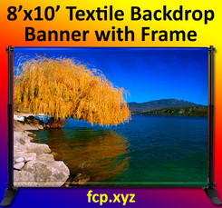 backdrop banner with frame