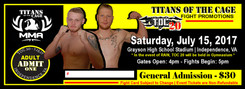 1000 5.5x2.125 titans of the cage tickets 16pt with super shiny finish