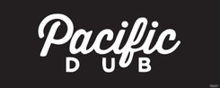 Pacific-Dubr-White-on-Black 8x20ft fire resistant backdrop with tag line