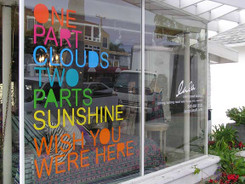 Getting window signs like this is a multi-step process involving printing, kiss cutting, weeding and the addition of a transfer layer.